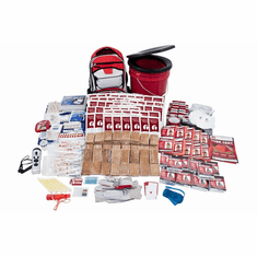 Deluxe 10 Person Home and Office Survival Kit. Includes EVAC backpack.