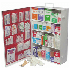 Deluxe Large Commercial Metal First-Aid Cabinet- 4 Shelf