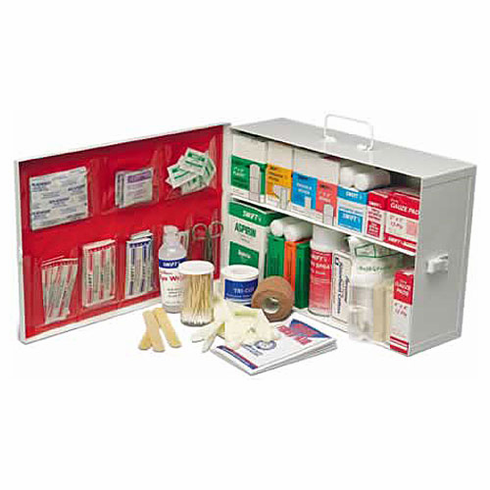 Deluxe Small Metal First-Aid Cabinet 2 Shelf