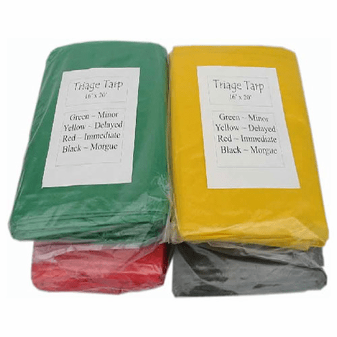 Deluxe TRIAGE Tarps (set of 4) with Carry Bag