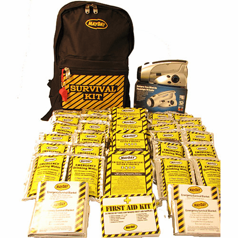 Economy 3-Person Emergency Backpack Survival Kit