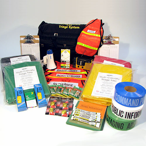 Incident Command and Triage Kit on WHEELS 37 PC.