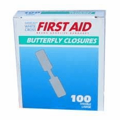 Large Butterfly Bandages (box of 100)