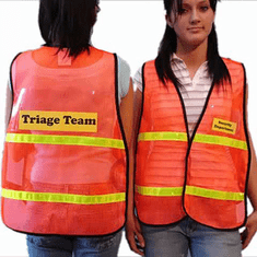 LEGEND Mesh Safety Vest with CLEAR INSERT