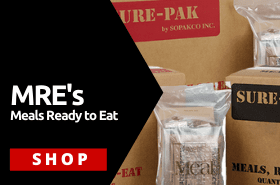 Meals Ready to Eat (MRE's) Military  Approved