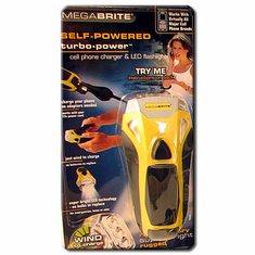 Mega Brite Flashlight with NOAA  and Cell Phone Charger