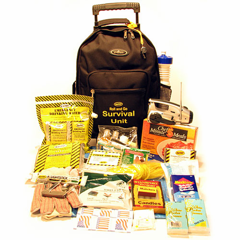 """NEW 2-Person  """"Roll- About  Survival Kit"""" on Wheels"""
