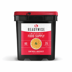 NEW--ReadyWise 60 Serving Entrees'  <br>7 Day Food Bucket for 4 Adults