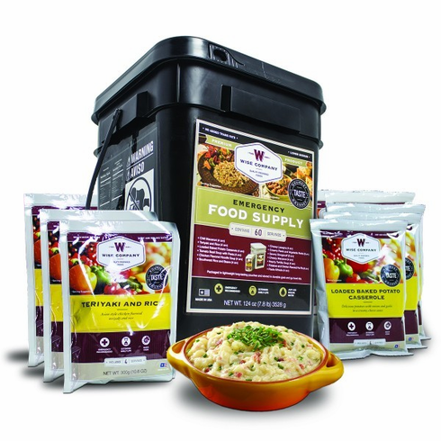 NEW--60 Serving 7 Day Food Bucket for 4 Adults