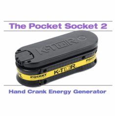 Pocket Socket 2 Cell Phone Universal Hand Crank Charger