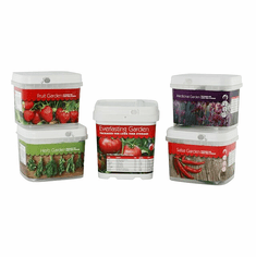 "Preparedness Seeds  ""The Whole Garden""  Package of 5 Cans"