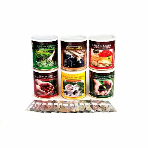 """Preparedness Seeds  """"The Whole Garden""""  Package of 5 Cans"""