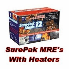 Sure-Pak 12 Meals Ready to Eat (WITH -FLAMELESS HEATERS)