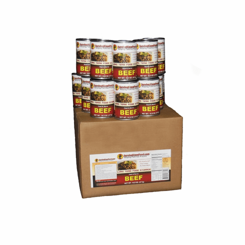 Survival Cave Case of 12-14.5 oz. Canned Meat Storage
