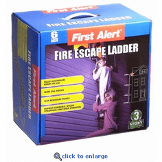 First Alert Up to 3-Story Fire Escape Ladder (Extends 24')