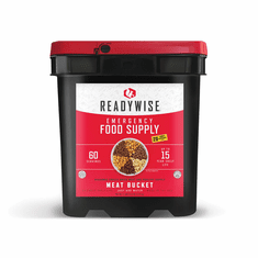 READYWISE 60 Serving Freeze Dried Meat Bucket + 20 Servings of Rice