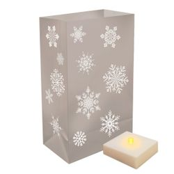 Snowflake Plastic Bags with Light - 6ct