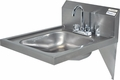 """16"""" x 14"""" Stainless Steel ADA Hand Sinks with Included Faucet"""