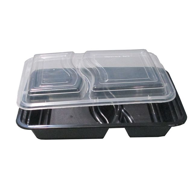 32oz Microwavable Container, 2-Compartment