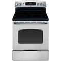GE 30 in. Self-Cleaning Freestanding Electric Convection Range in Stai