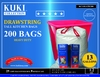 13 Gallon Drawstring Trash Bags