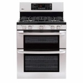 LG Electronics 30 in Freestanding Double Oven Gas Convection Range
