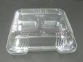 Plastic 3 Compartment Food Take-Out Tray