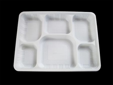 Plastic 6 Compartment Food Tray
