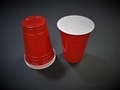 Red Plastic Party Cups