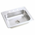 Stainless Steel 4 Hole Single Compartment Sink Topmount