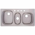 Stainless Steel 4 Hole Triple Compartment Topmount Sink