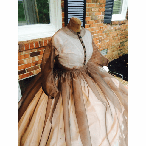 Beige-Taupe Sheer Civil War Dress**38