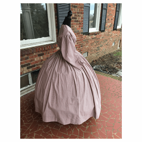 Reproduction Cotton Civil War Simple Day/Camp Dress*38
