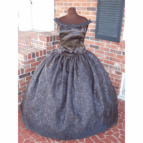 Rich Chocolate Civil War BallGown**38