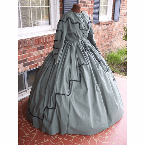 Sage Green Cotton Civil. War Day Dress**38