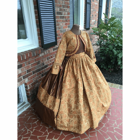 Taffeta and Tapestry Civil War Zouave Jacket Dress**38