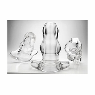 Double Tunnel Plug - Clear - X-Large