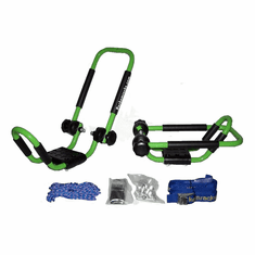 """Electric Lime Green <br>Folding J-style Kayak Rack Roof Top Carrier - 1 Set<br><p style=""""font-family:ARIEL;font-size:120%;color:grey"""">Sold Out </p>"""