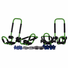Electric Lime Green<br>Folding J-style Kayak Rack Roof Top Carrier - 2 Sets