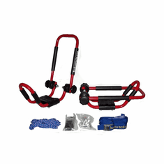 """Fire Engine Red <br>Folding J-style Kayak Rack Roof Top Carrier - 1 Set<br><p style=""""font-family:ARIEL;font-size:120%;color:grey"""">Sold Out </p>"""