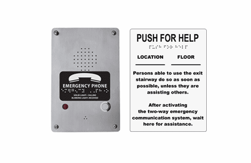 """8"""" x 6"""" Directions for Call Box (7049)"""