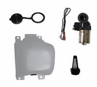 OMIX [ 3211338 ] Windshield washer bottle assy w/ pump & filter kit. includes: bottle, bottle cap, pump & filter kit, 1972-86 Jeep CJ