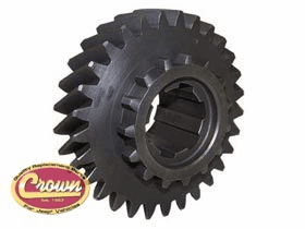Crown [ 809297 ] Mainshaft gear, 29 teeth, 6 spline, use with Dana Spicer 18 transfer case