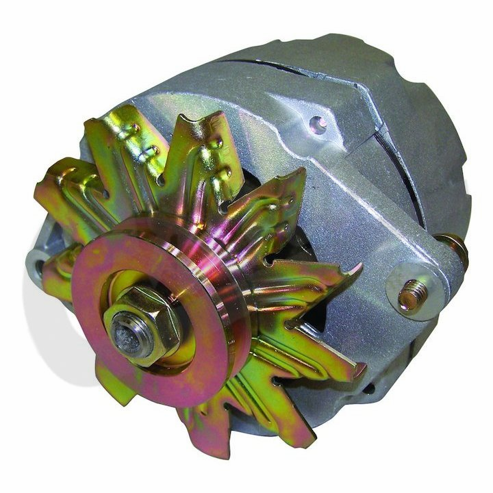 Alternator, (106 amps) fits 1980-86 Jeep CJ, (replaces: 56,63,66,70,78,85 amps ) metric