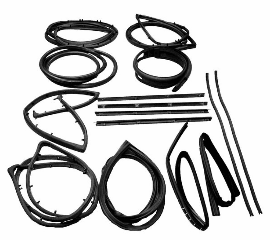 Fairchild [ KD4006 ] 15 Piece Seal Kit for 1976-1986 Jeep CJ-7 & CJ-8 with Fixed Vent Window