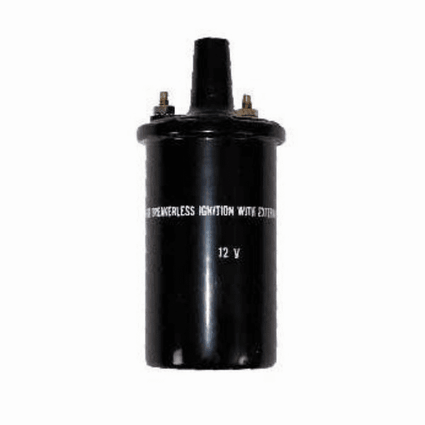 Ignition coil, fits 1975-77 Jeep CJ 6 or 8 cylinder engine with prestolite ignition system