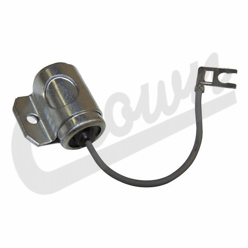 Crown [ J0917128 ] Ignition condenser, fits 1945-1971 Jeep CJ with 4-134 4 cylinder engines