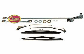 Crown [ 5453958KM ] Master windshield wiper linkage kit, kit includes: wiper linkage, 2 arms, 2 blades, and hardware 1976-86 Jeep CJ
