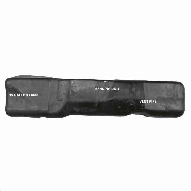 MTS [ 4249 ] 19 Gallon Plastic Gas Tank for 1973-1979 Ford F100, F150, F250, Replaces Tanks Only
