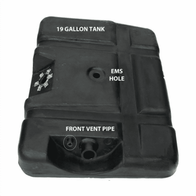 MTS [ 4250  ] 19 Gallon Plastic Rear Gas Tank for 1973-1979 Ford F100, F150, F250 with EMS Hole
